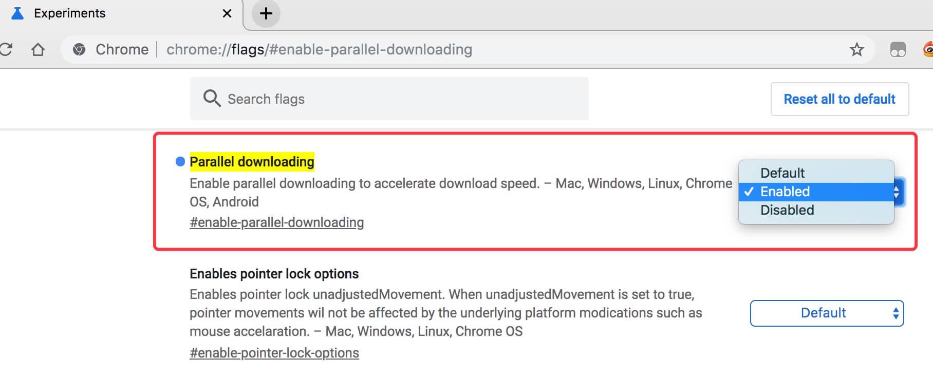 Google Chrome 浏览器开启多线程下载-耗子博客